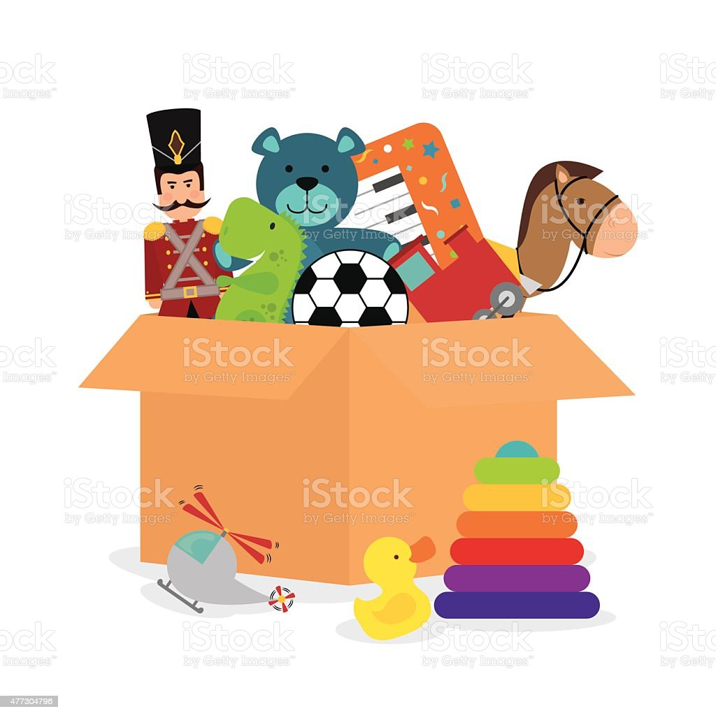 Baby toys design. vector art illustration