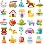 26fb879f767c Toys Icons For Baby Boy In Form Of Circle Stock Vector Art   More ...