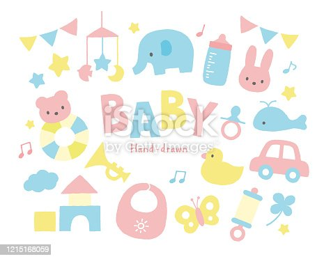 Baby toys pastel color