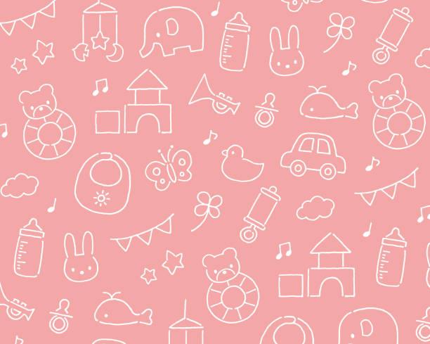 赤ちゃんのおもちゃのパターン - 赤ちゃん点のイラスト素材/クリップアート素材/マンガ素材/アイコン素材
