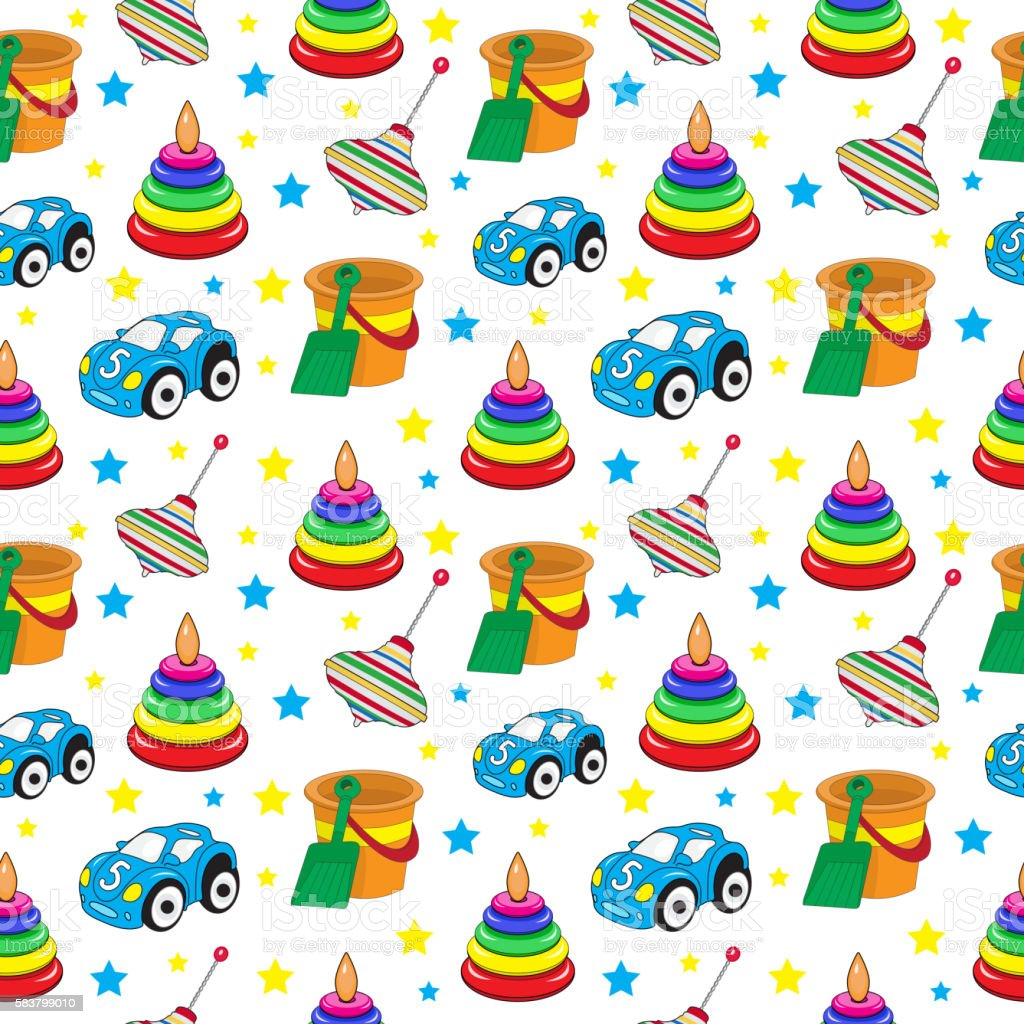 Boy Toys Background : Baby toys seamless texture childrens wallpaper background