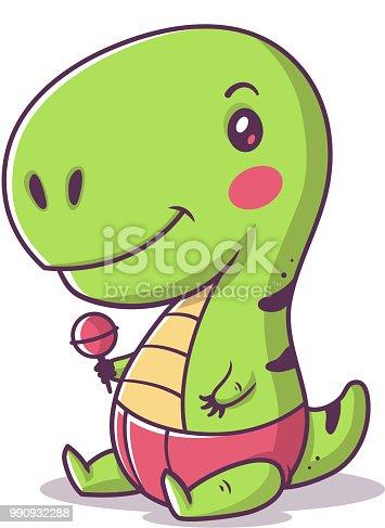 Ilustración de Bebé Trex y más banco de imágenes de Animal 990932288 ...