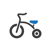 Toy Baby Tricycle Icon
