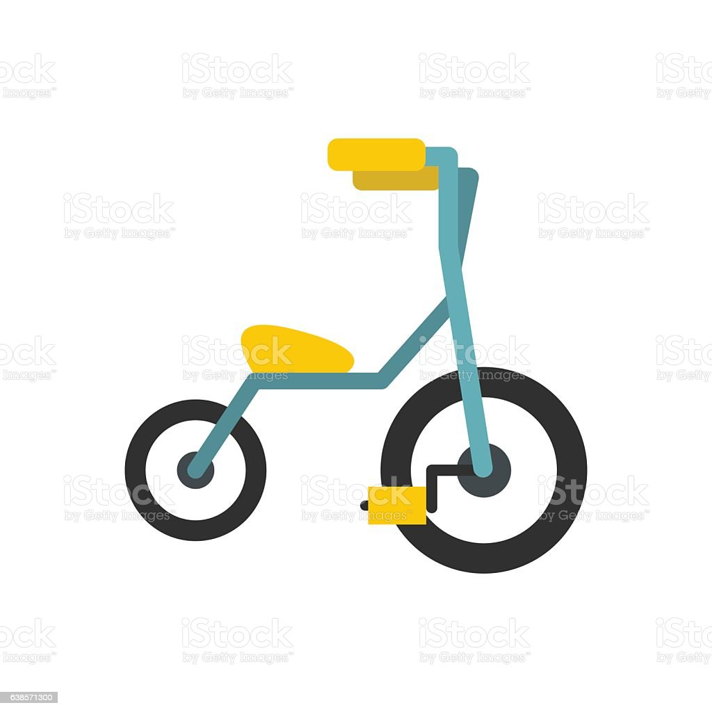 Baby tricycles flat icon vector art illustration