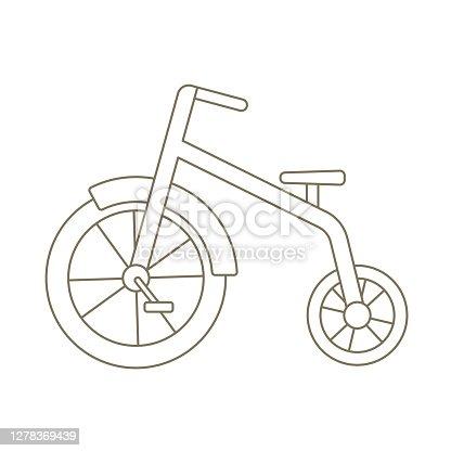 istock Baby Trike Icon 1278369439