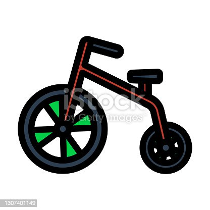 istock Baby Trike Icon 1307401149