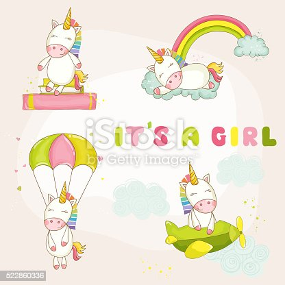 Baby Unicorn Set - Baby Shower or Arrival Card