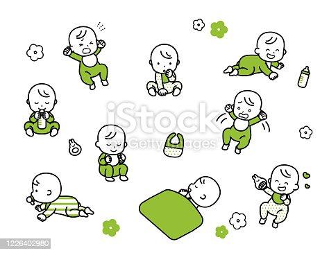 istock Baby variation set. 1226402980
