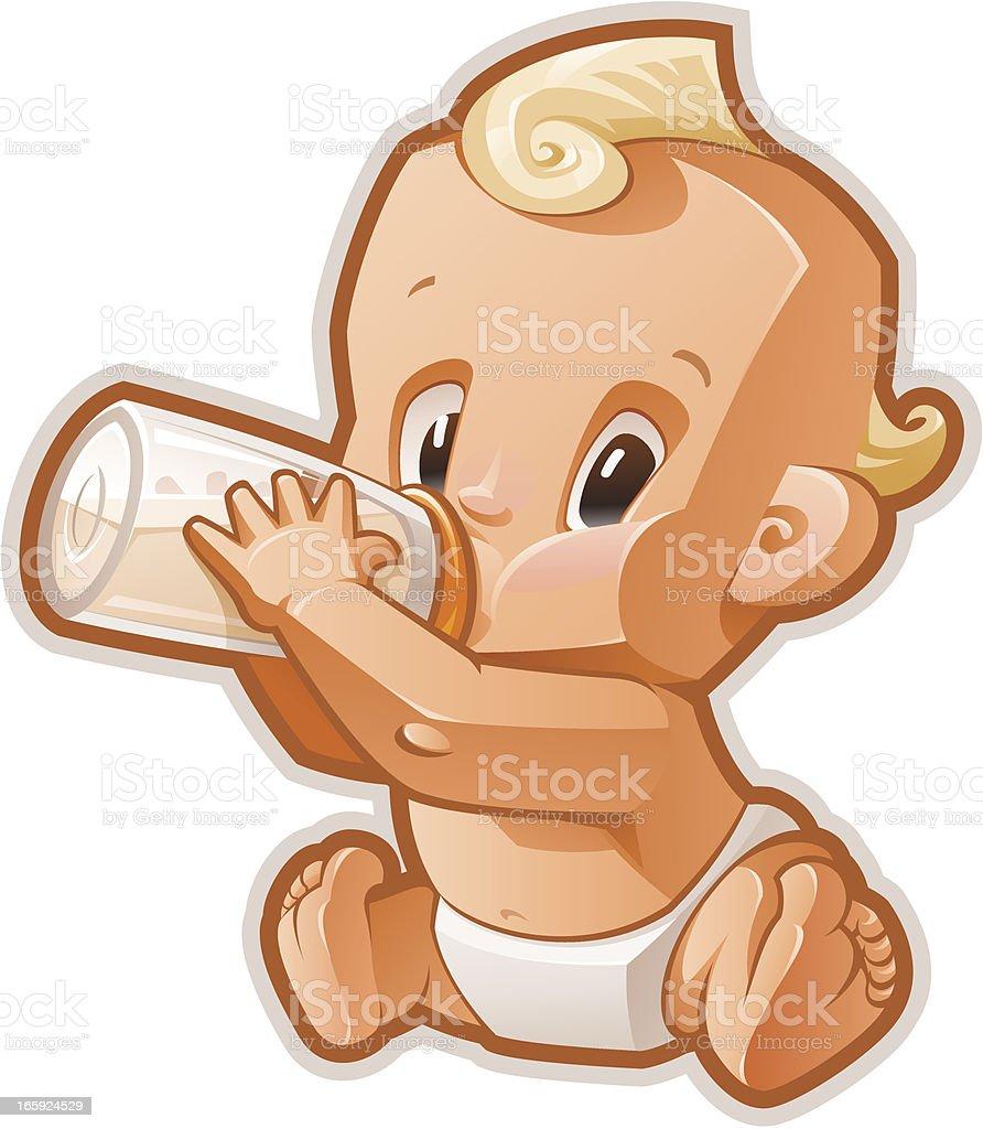 Baby vector art illustration