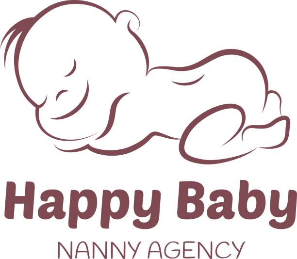 Baby vector template for nanny agency vector art illustration