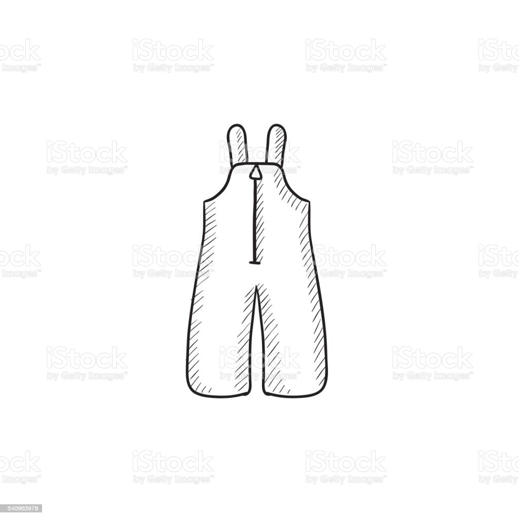 782252155 Baby Winter Overalls Sketch Icon Stock Vector Art   More Images of ...