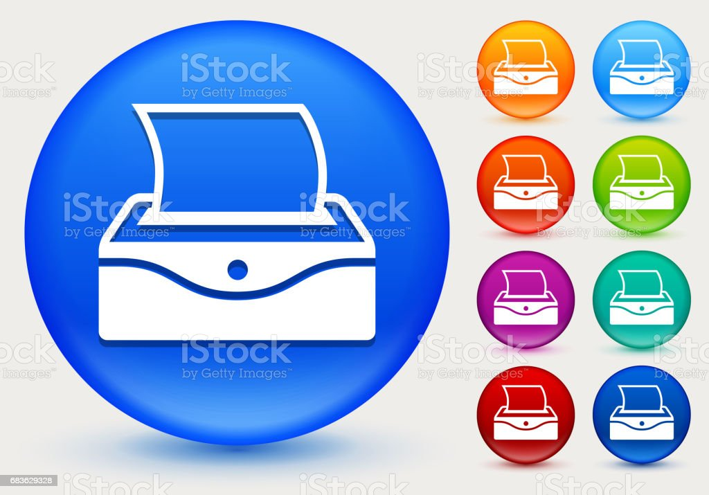 Baby Wipes Icon on Shiny Color Circle Buttons vector art illustration