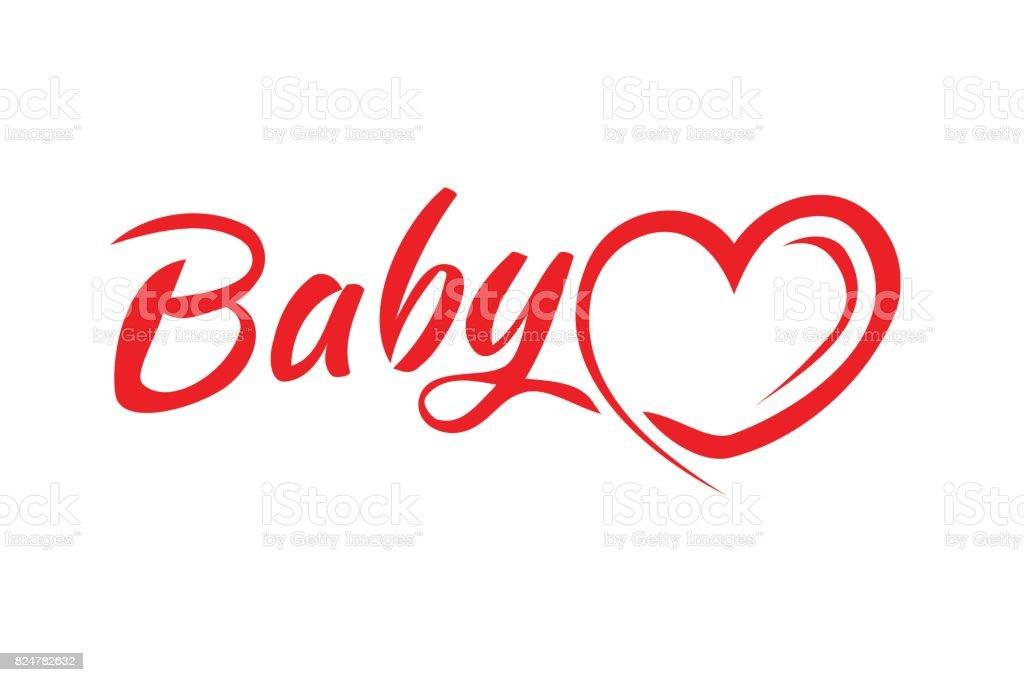 Babywort Mit Einem Herzsymbol Stock Vektor Art und mehr Bilder von ...