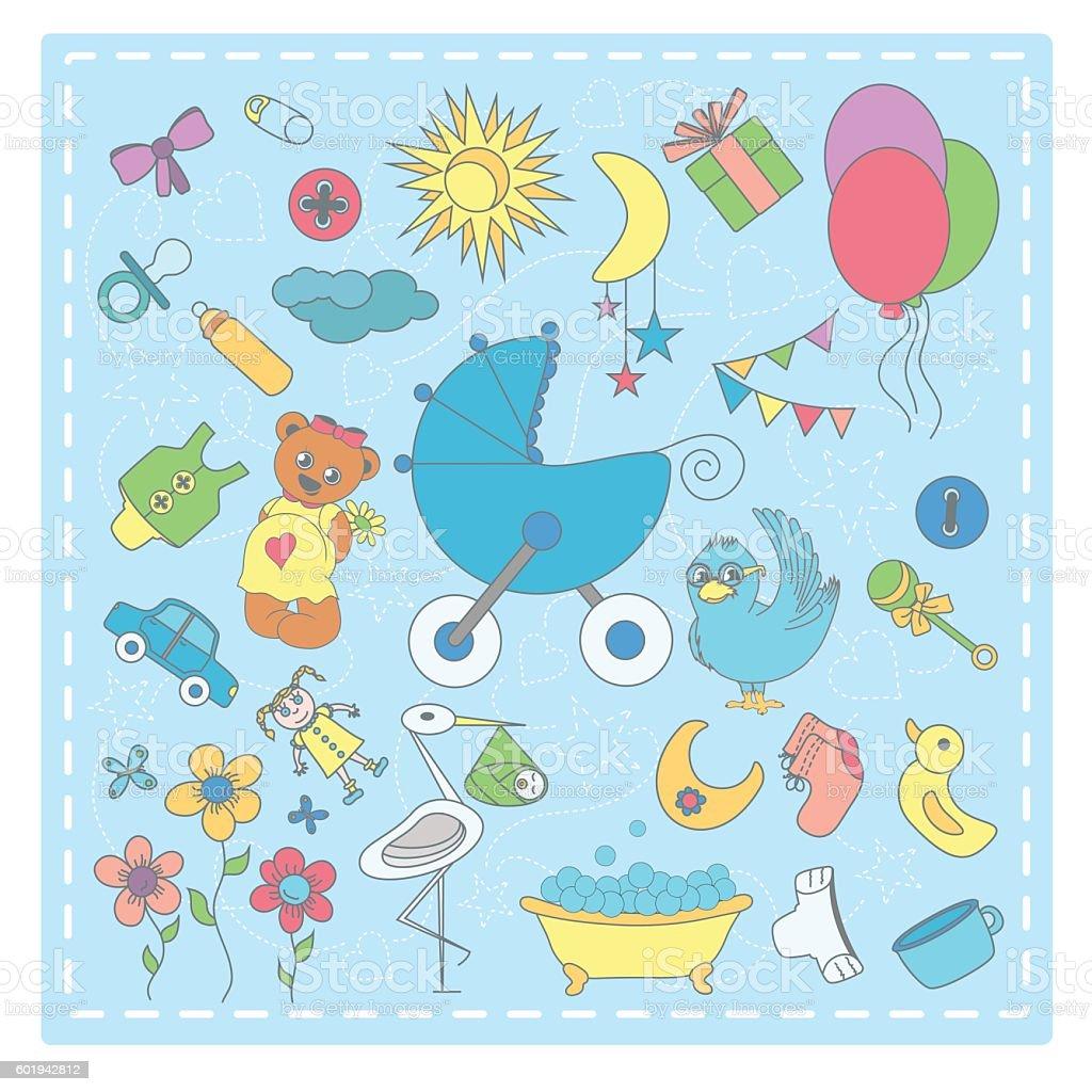 Baby_Icon vector art illustration