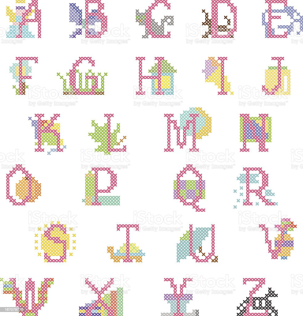 babygirl alphabet royalty-free stock vector art