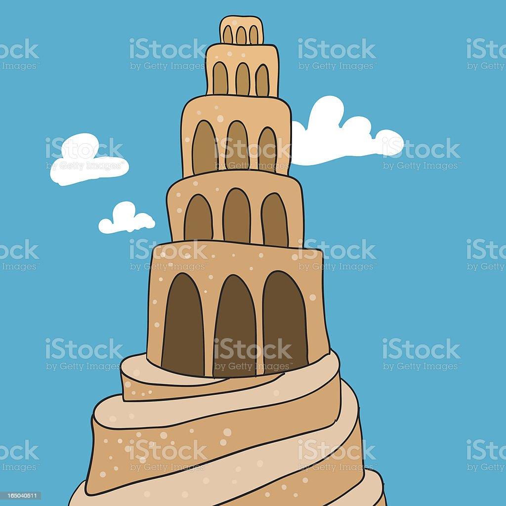 Babylon tower vector art illustration