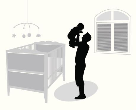 Baby'n Dad Vector Silhouette