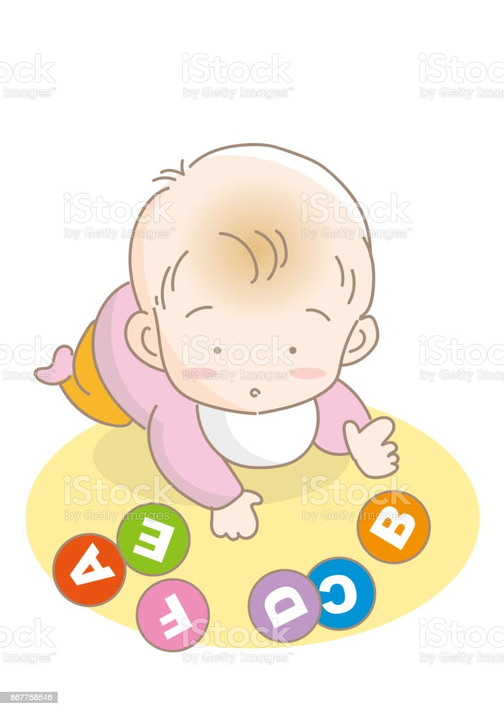 Babys English Education Stock Vector Art & More Images of 0-11