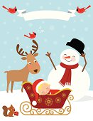 istock Baby's First Christmas / Winter 165979530