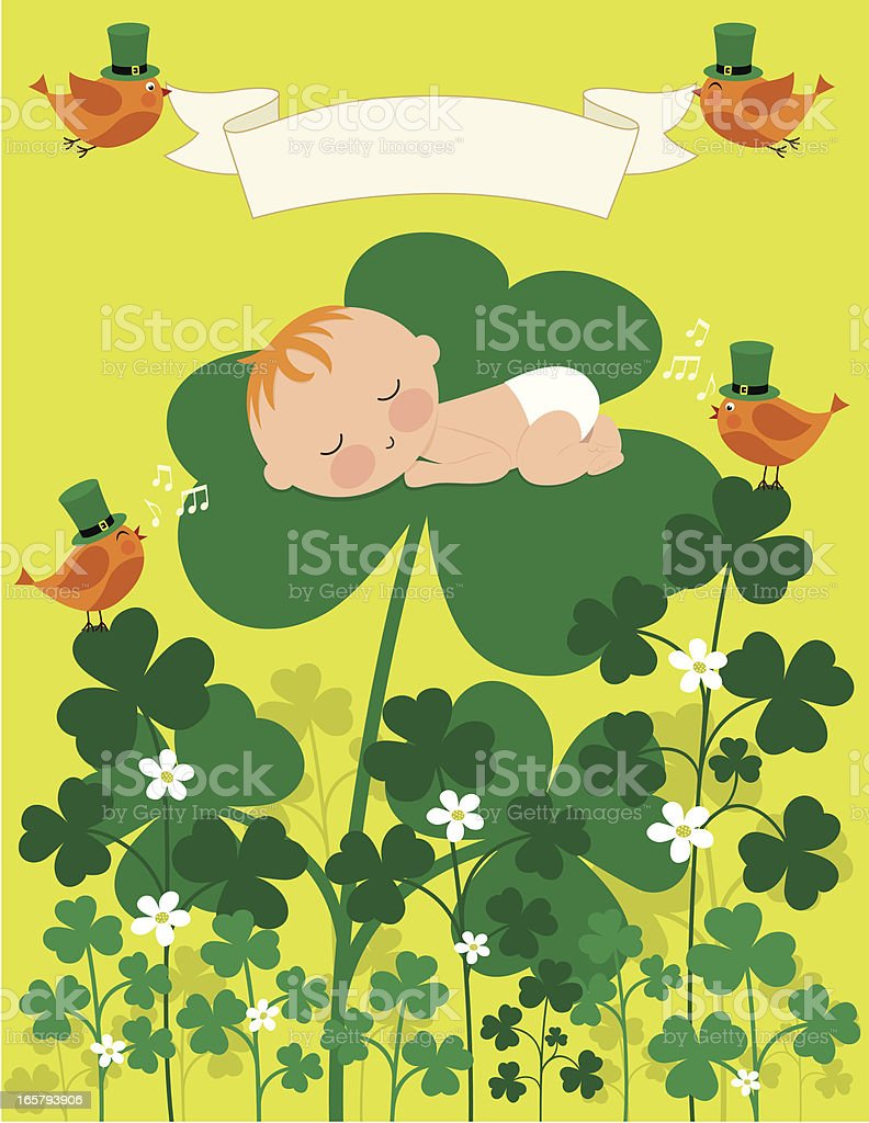 Baby's First Saint Patrick's Day royalty-free stock vector art