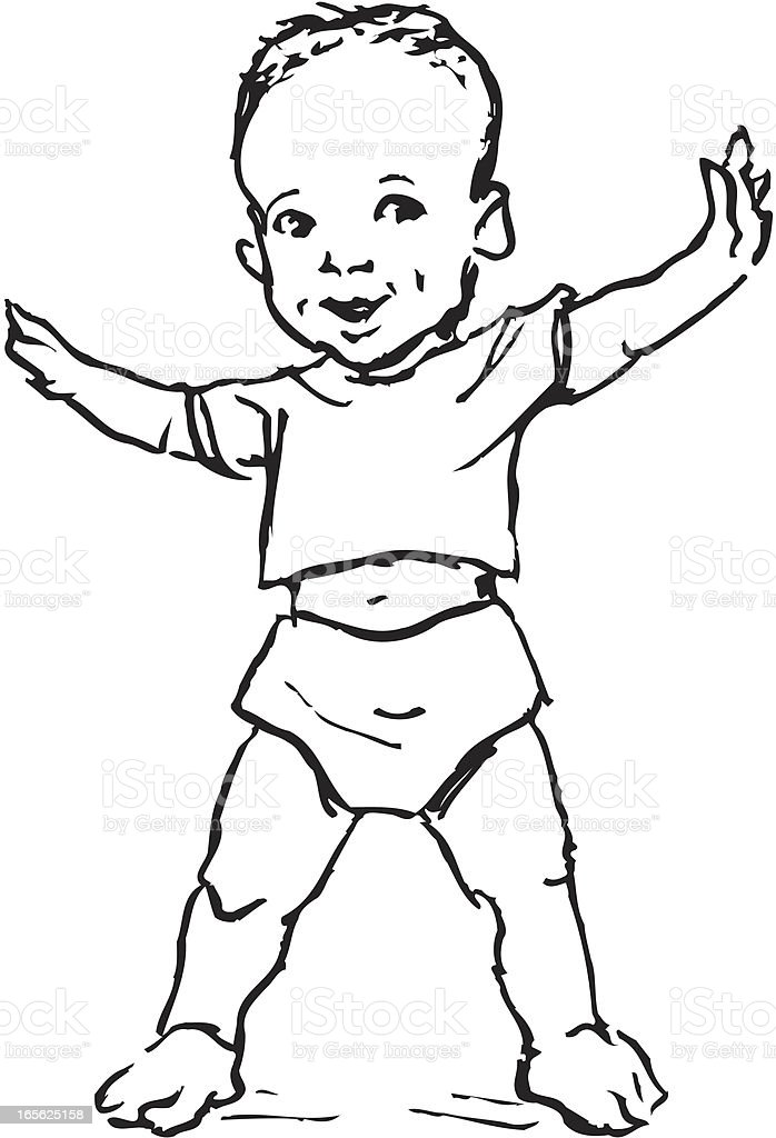 First Step To Success: Babys First Step Stock Vector Art & More Images Of 12-17