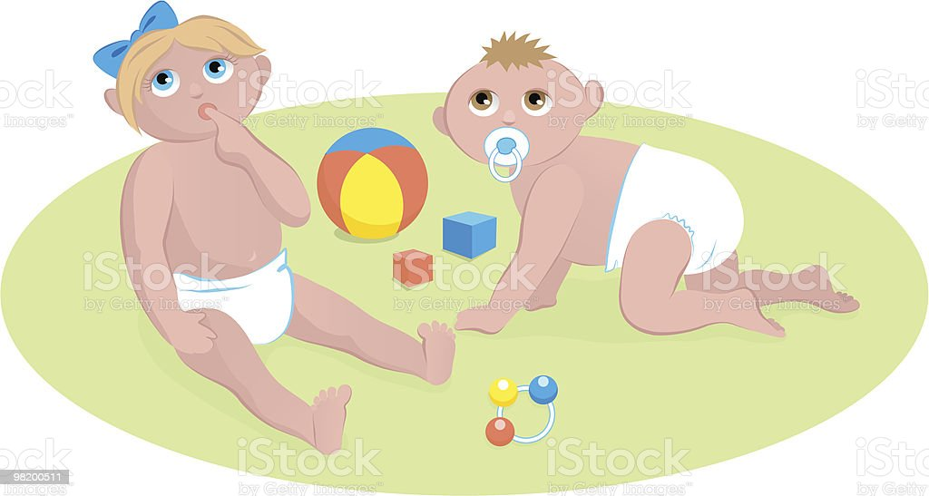 Babys playing royalty-free babys playing stock vector art & more images of baby