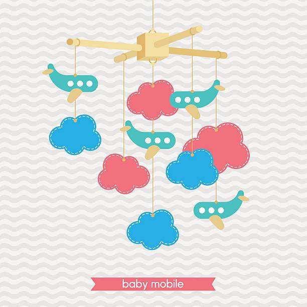 ilustrações, clipart, desenhos animados e ícones de babyshower mobile 3 - mobile