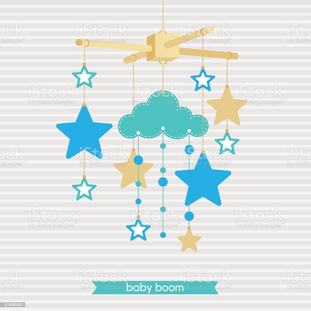 Babyshower mobile 4 vector art illustration