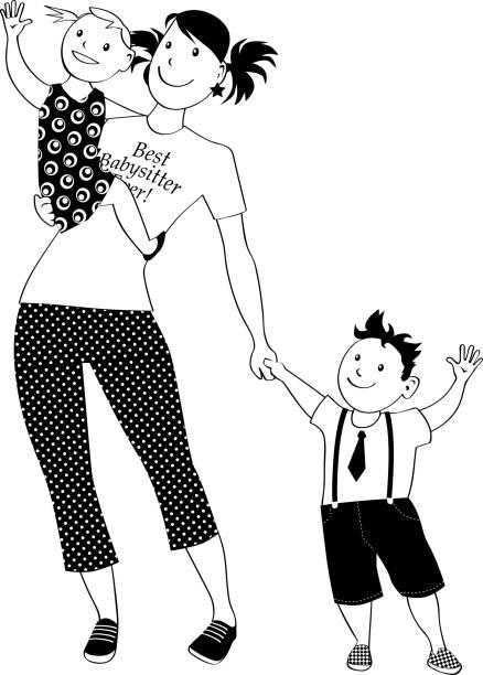 Babysitter clip-art vector art illustration