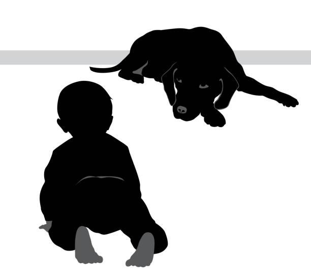 baby-/ beagle - hundebetten stock-grafiken, -clipart, -cartoons und -symbole