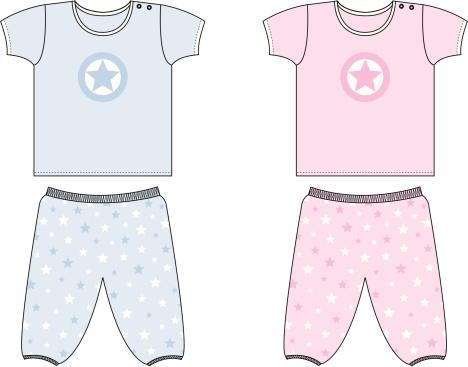 Baby/Toddler Star Top & Bottom Set