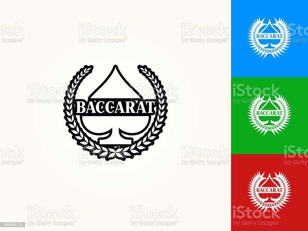 Baccarat Black Stroke Linear Icon vector art illustration
