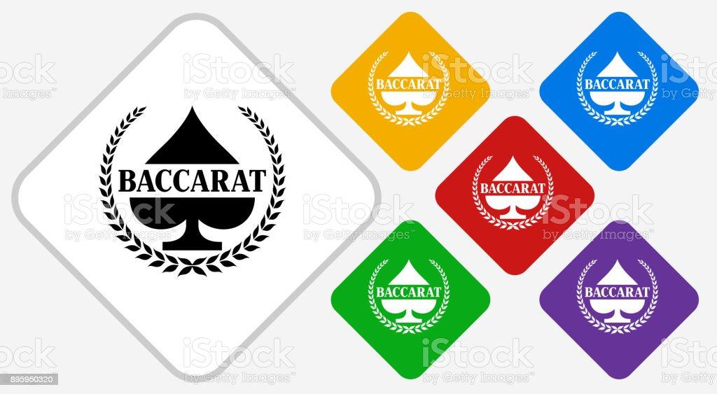 Baccarat Color Diamond Vector Icon vector art illustration