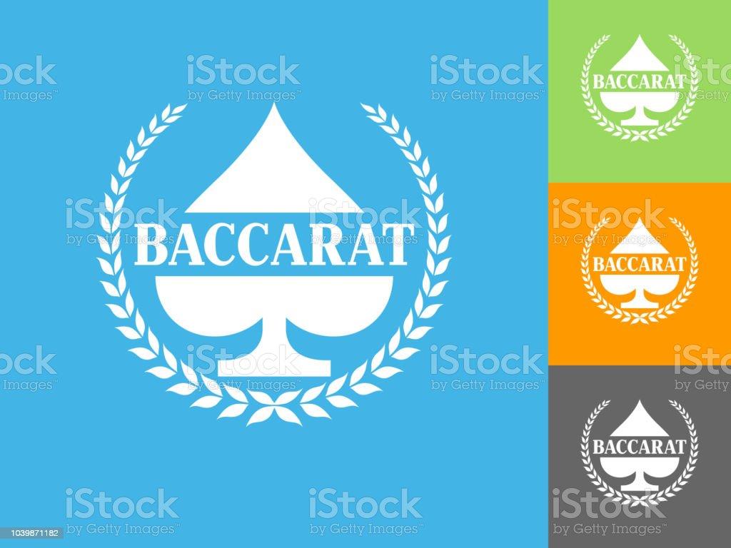 Baccarat  Flat Icon on Blue Background vector art illustration