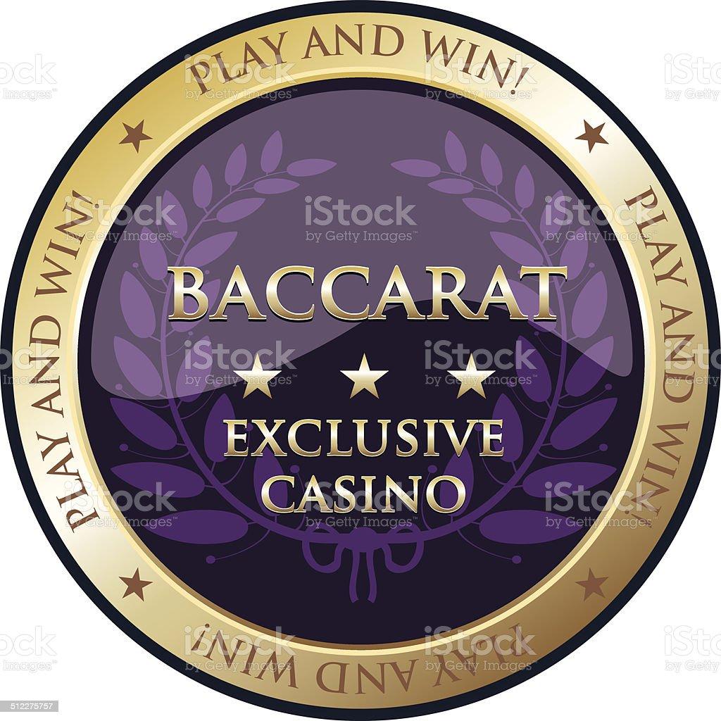 Baccarat Gold Embelm vector art illustration