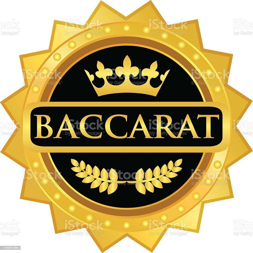 Baccarat Gold Medal vector art illustration