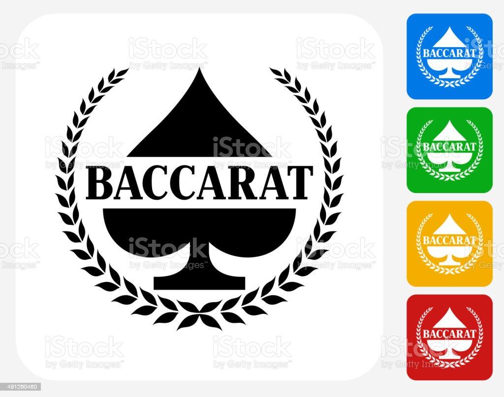 Baccarat Icon Flat Graphic Design vector art illustration