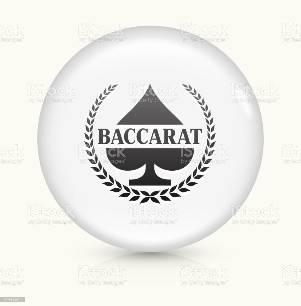 Baccarat icon on white round vector button vector art illustration