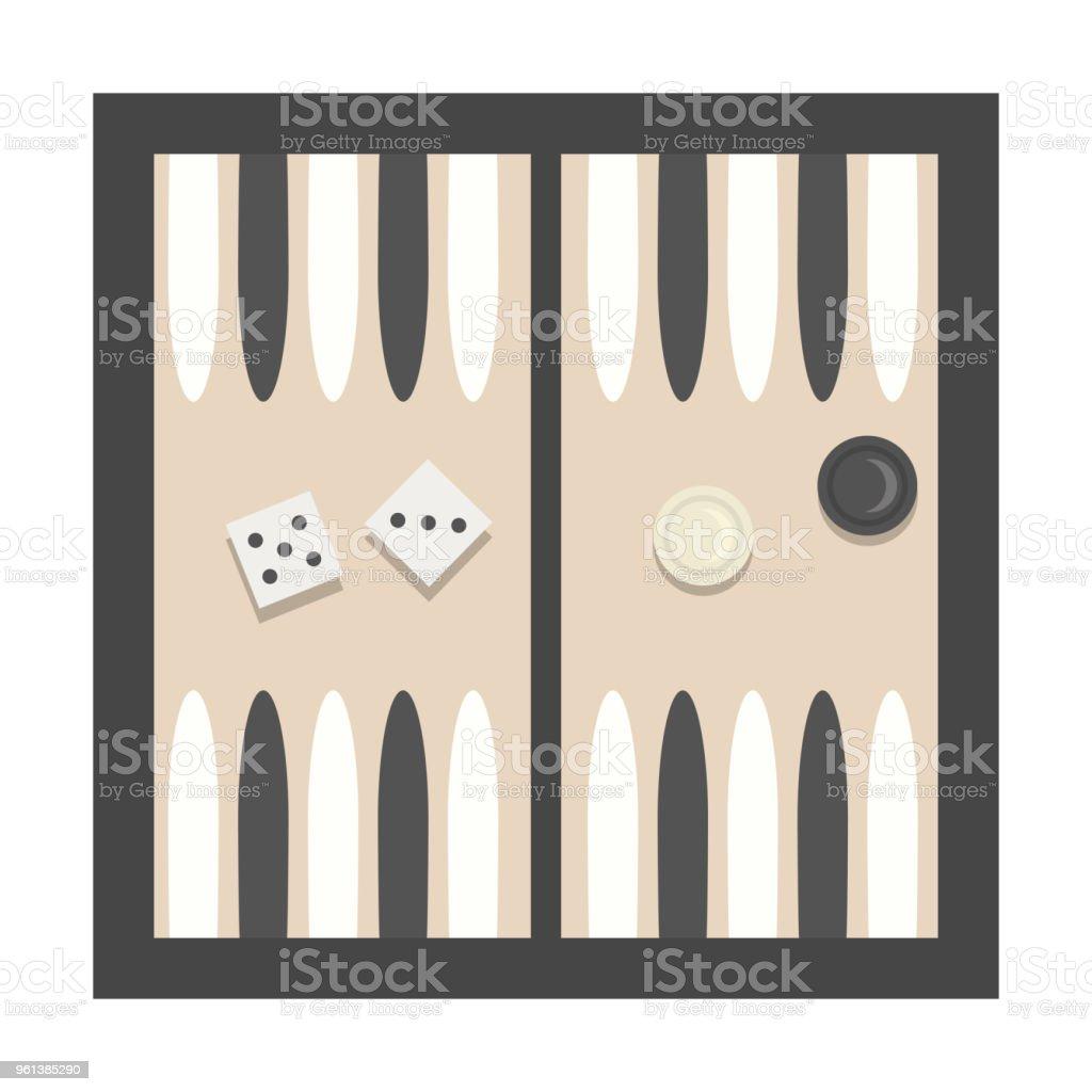 Ilustración de vector de Bacgammon. - ilustración de arte vectorial
