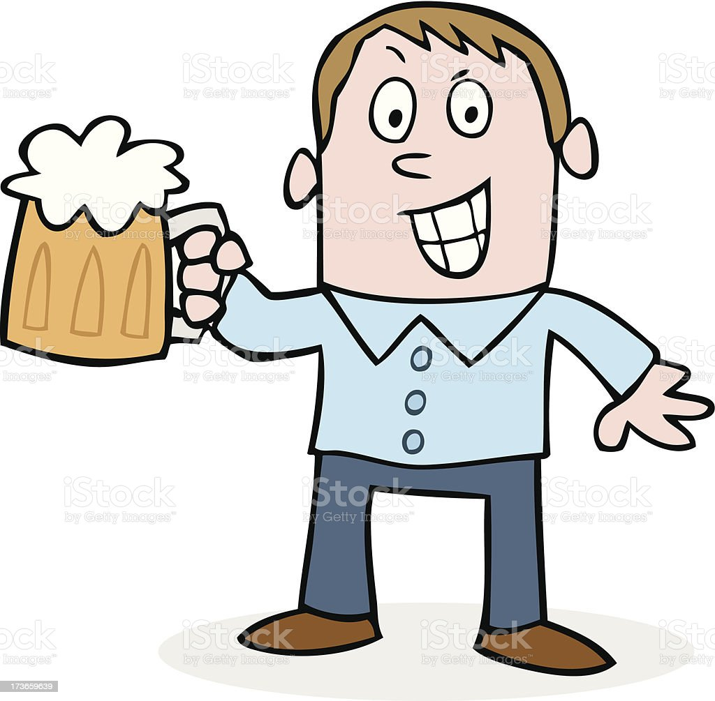 Bachelor party drunk groom on stag night vector art illustration