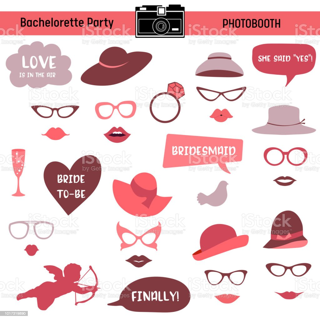 Bachelorette Event Hen Party Bridal Shower Printable Glasses Hats