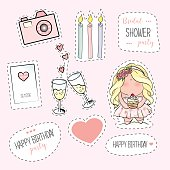 Bachelorette or birthday party stickers.