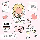 Bachelorette or wedding party stickers.