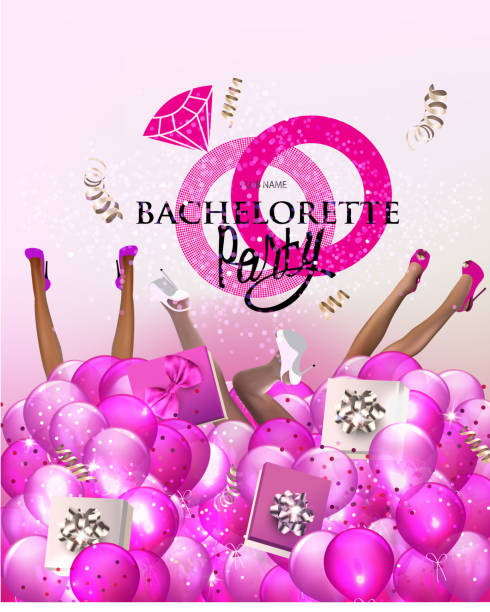 bachelorette party in glass - bachelorette party stock illustrations, clip art, cartoons, & icons