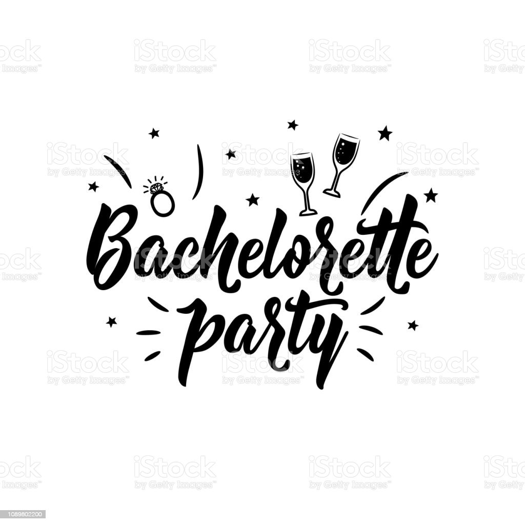 photo regarding Lettering Printable titled Bachelorette Bash Favourable Printable Indicator Lettering Calligraphy Vector Example Inventory Case in point - Obtain Graphic Previously