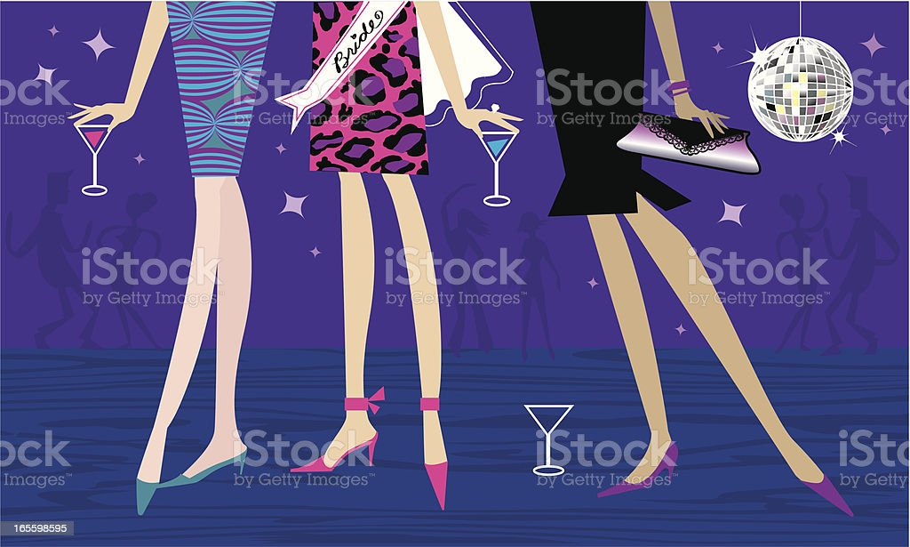 Bachelorette Party vector art illustration