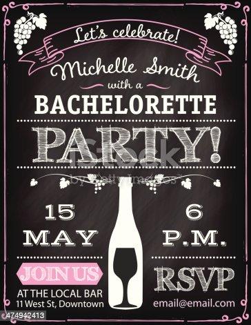 Bachelorettte Party Invitation Template