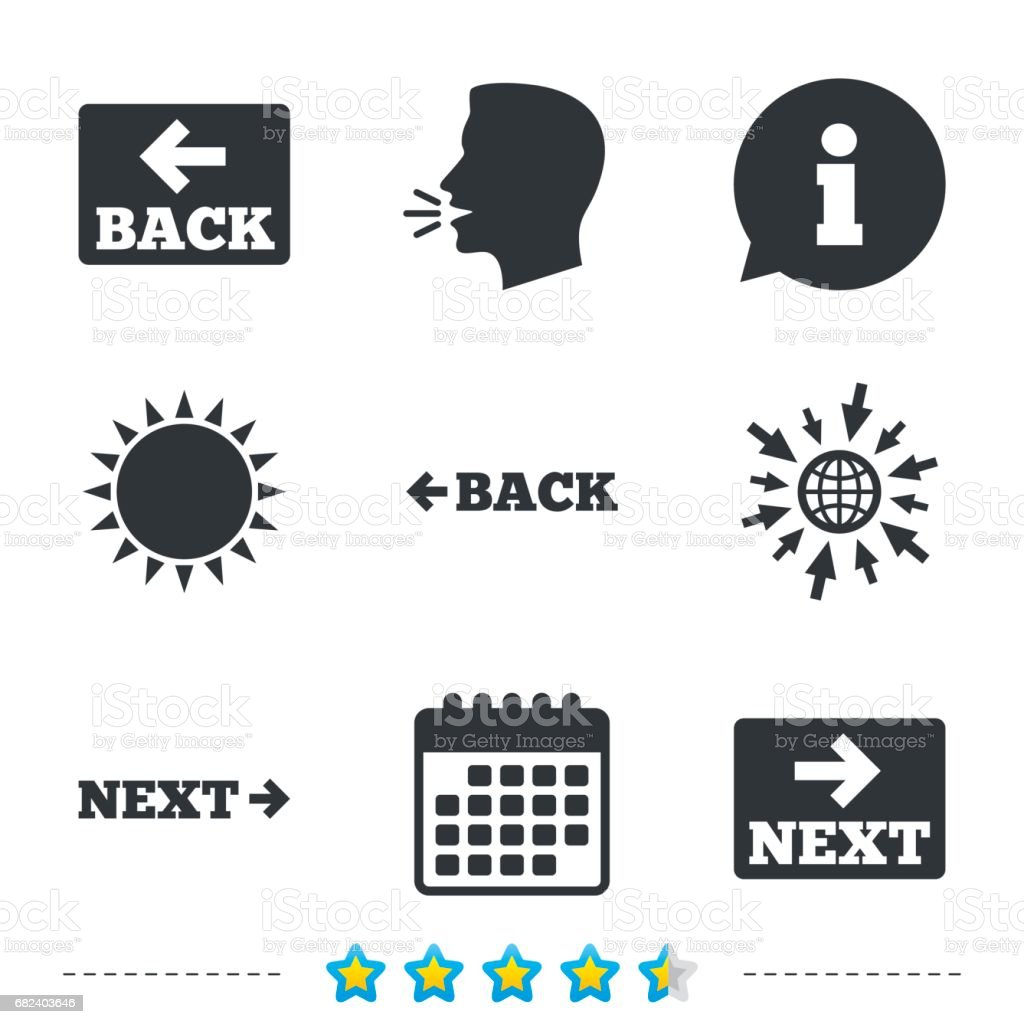Back and next navigation signs. Arrow icons. royalty-free back and next navigation signs arrow icons stock vector art & more images of arrow symbol
