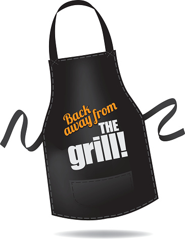 Back Away From The Grill Apron Stock Illustration - Download Image Now