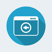 Back button - Vector flat minimal icon
